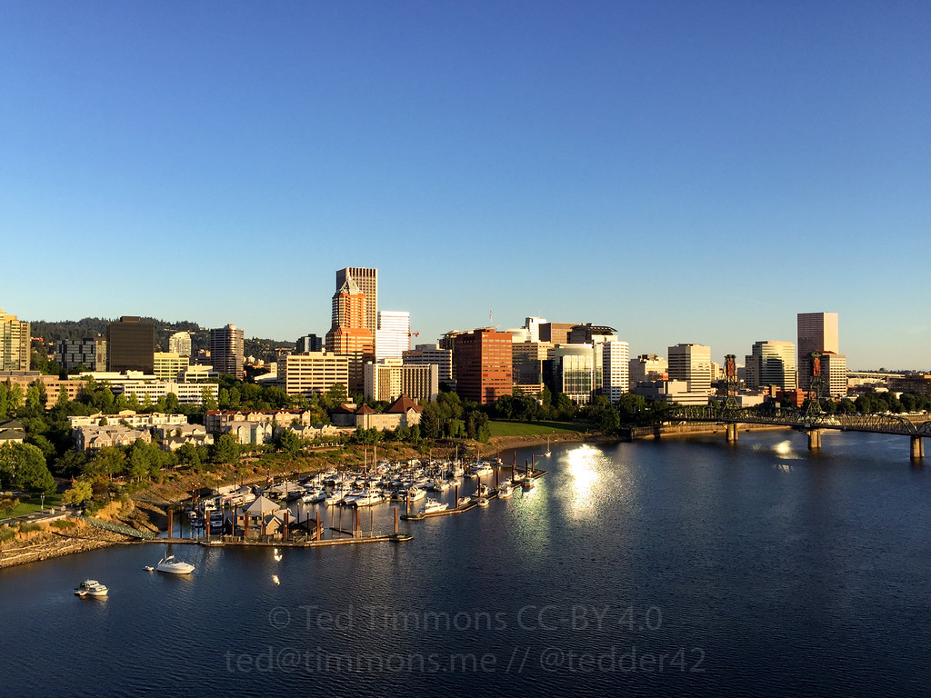 Portland from the Marquam Bridge. Great views of downtown on a pretty day. Picture by Jeremy Kitchen.