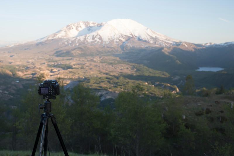 Timelapse setup at Mt Saint Helens