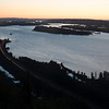 Sunset at the Columbia River Valley with Vancouver Oregon in the background