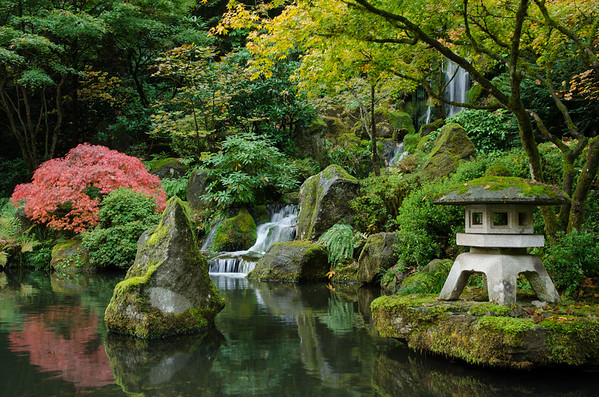 Japanese Garden Waterfall