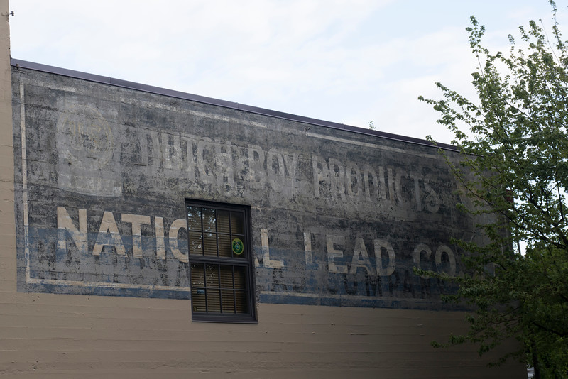 Historic advertisements in downtown