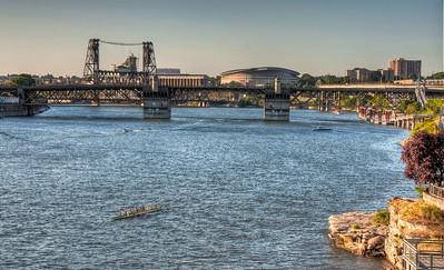 river-bridge-oar-boat