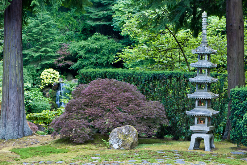 This antique five-tiered pagoda latern was given to city of Portland in 1963 by Sapporo, our Sister City in Japan.
