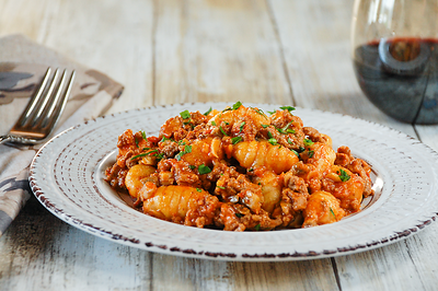 Cauliflower Gnocchi with Beef Bolognese - PNG