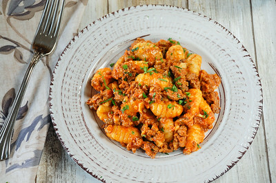 Cauliflower Gnocchi with Beef Bolognese -jpeg