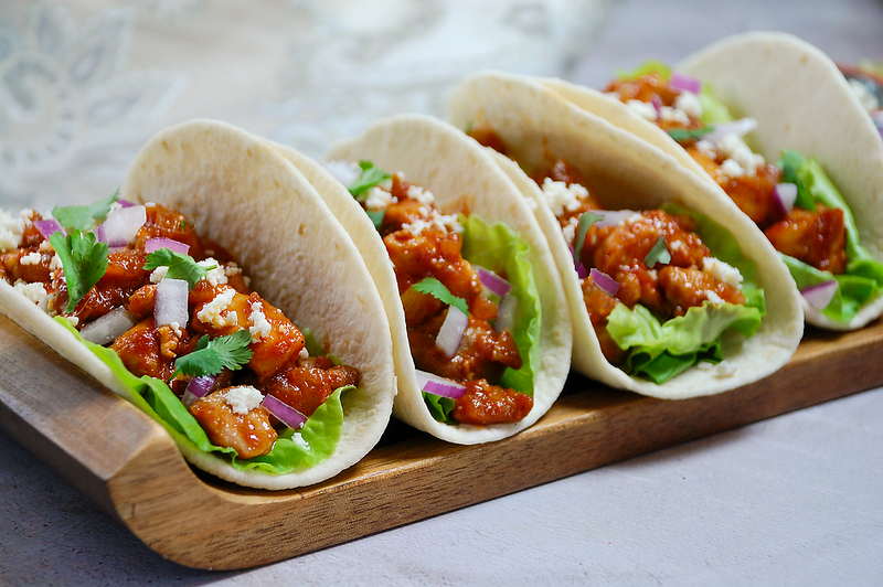 Maple Chipotle Chicken Tacos