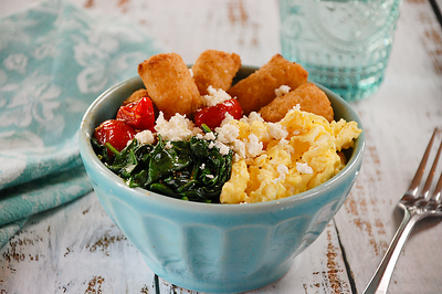 Bacon Tot Breakfast Bowl - PNG