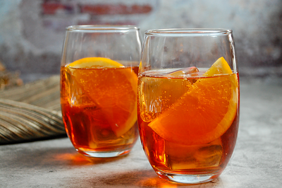 Maple Bourbon Aperol Spritz