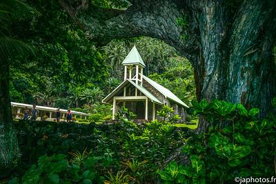 Petite Eglise Catholique, Tahuata, Iles Marquises, Mars 2017