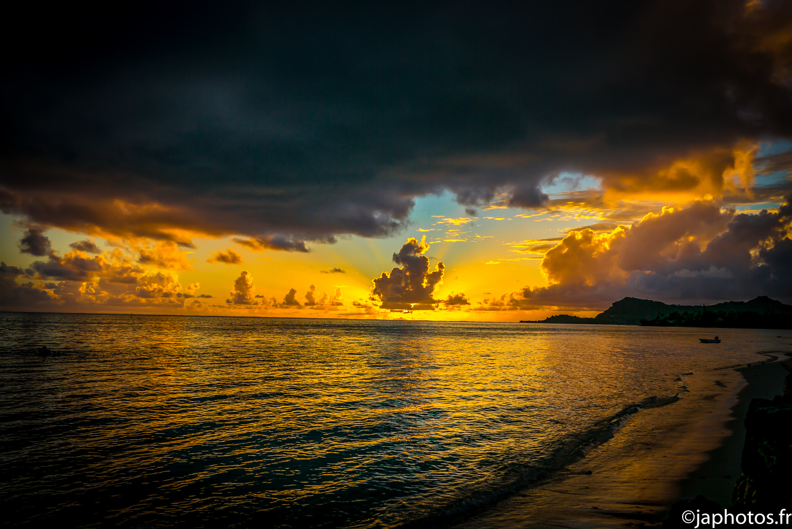 Sunset, Bora Bora, French Polynesia, April 2017