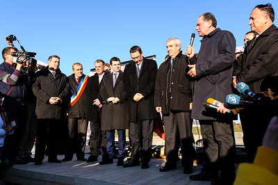 Inauguration of the bridge that connects Dacia Factory to DN 7