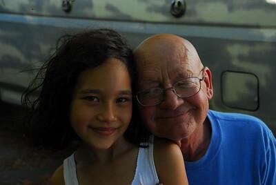 Merle Honniker and his  Daughter