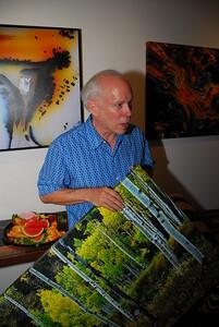 Bill Atkinson at Opening in Healdsburg Capture Gallery