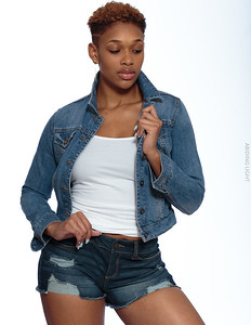 Jeans Shorts and Jacket-36
