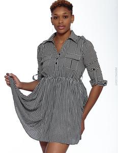 Short Gray Dress-3