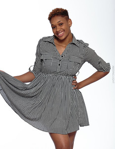 Short Gray Dress-25