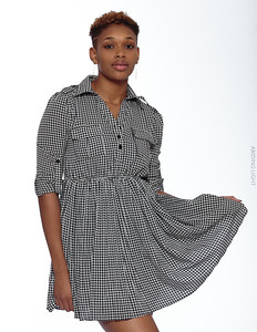 Short Gray Dress-2