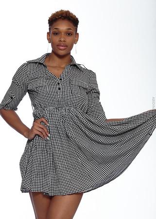 Short Gray Dress-12