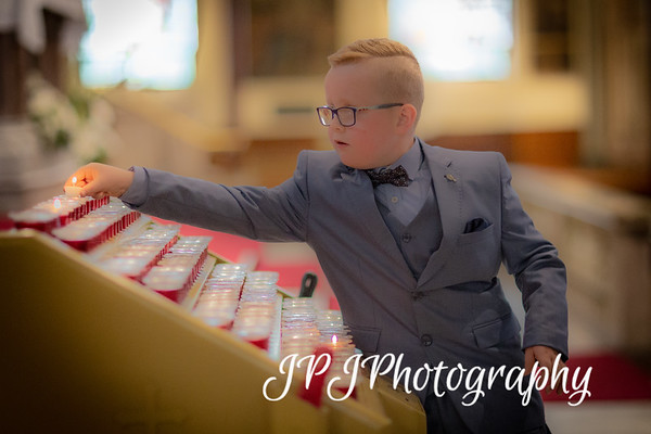 Noah Watt makes his First Holy Communion at Long Tower Chapel
