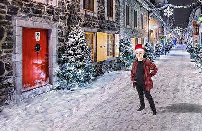 Christmas Street Boy