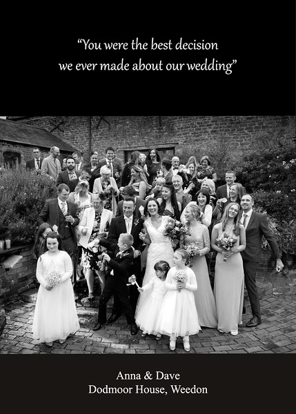 KIND WORDS - WEDDING