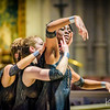 "Quimera Tribe dance company, directed and choreographed by Anandha Ray. Photo shoot at Grace Cathedral of dance piece ""Covenant"" performed by Lael Marie, Linda Steele II, and Treestar Tinkerbella. Produced by SFMAF."