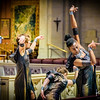 """Quimera Tribe dance company, directed and choreographed by Anandha Ray. Photo shoot at Grace Cathedral of dance piece """"Covenant"""" performed by Lael Marie, Linda Steele II, and Treestar Tinkerbella. Produced by SFMAF."""