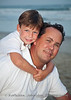 Father  son, family beach photo, North Carolina