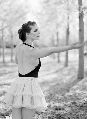 Yellow Leave Ballerina Shoot