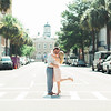couple-kiss-broad-street-downtown-charleston-sc-engagement-kate-timbers-photography-3519