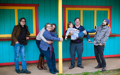 Family portraits at the Nevada County Fairgrounds