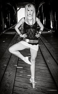 Dancer en pointe portrait