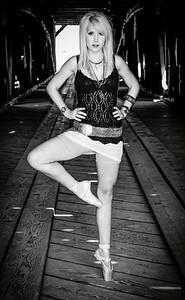 Dancer en pointe portrait