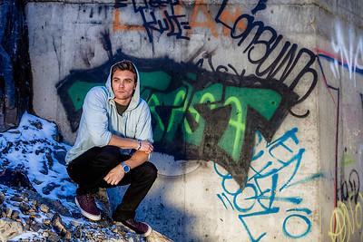 portrait with graffiti, Truckee CA