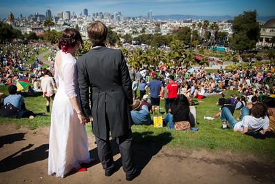 Wedding in Delores Park, SF