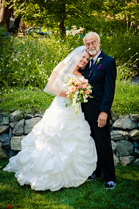 Bride and dad, Marion Charlotte Photo