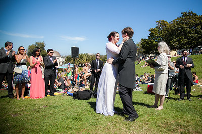 Delores Park Wedding Ceremony, San Francisco,