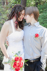 bride & groom, Pioneer Park, Nevada City CA