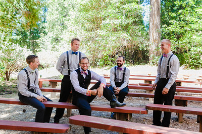 groomsmen in outdoor ampitheater