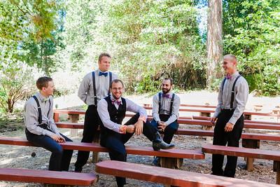 groomsmen in outdoor ampitheater