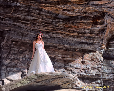 A bride at Moore Cove near Brevard, NC