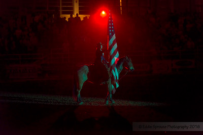 Presentation of Colors at the Rodeo