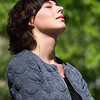 Daydreaming and enjoying warm sunlight