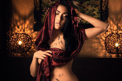 Chinese and Japanese calligraphy body art photography