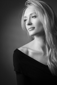 Black and white portrait photography