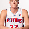 Oct 1, 2012; Auburn Hills, MI, USA; Detroit Pistons forward Jonas Jerebko (33) during media day at the Pistons Practice Facility. Mandatory Credit: Tim Fuller-US PRESSWIRE