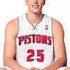 Oct 1, 2012; Auburn Hills, MI, USA; Detroit Pistons forward Kyle Singler (25) during media day at the Pistons Practice Facility. Mandatory Credit: Tim Fuller-US PRESSWIRE