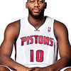 Oct 1, 2012; Auburn Hills, MI, USA; Detroit Pistons center Greg Monroe (10) during media day at the Pistons Practice Facility. Mandatory Credit: Tim Fuller-US PRESSWIRE