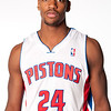 Oct 1, 2012; Auburn Hills, MI, USA; Detroit Pistons guard Kim English (24) during media day at the Pistons Practice Facility. Mandatory Credit: Tim Fuller-US PRESSWIRE