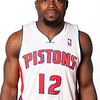 Oct 1, 2012; Auburn Hills, MI, USA; Detroit Pistons guard Will Bynum (12) during media day at the Pistons Practice Facility. Mandatory Credit: Tim Fuller-US PRESSWIRE
